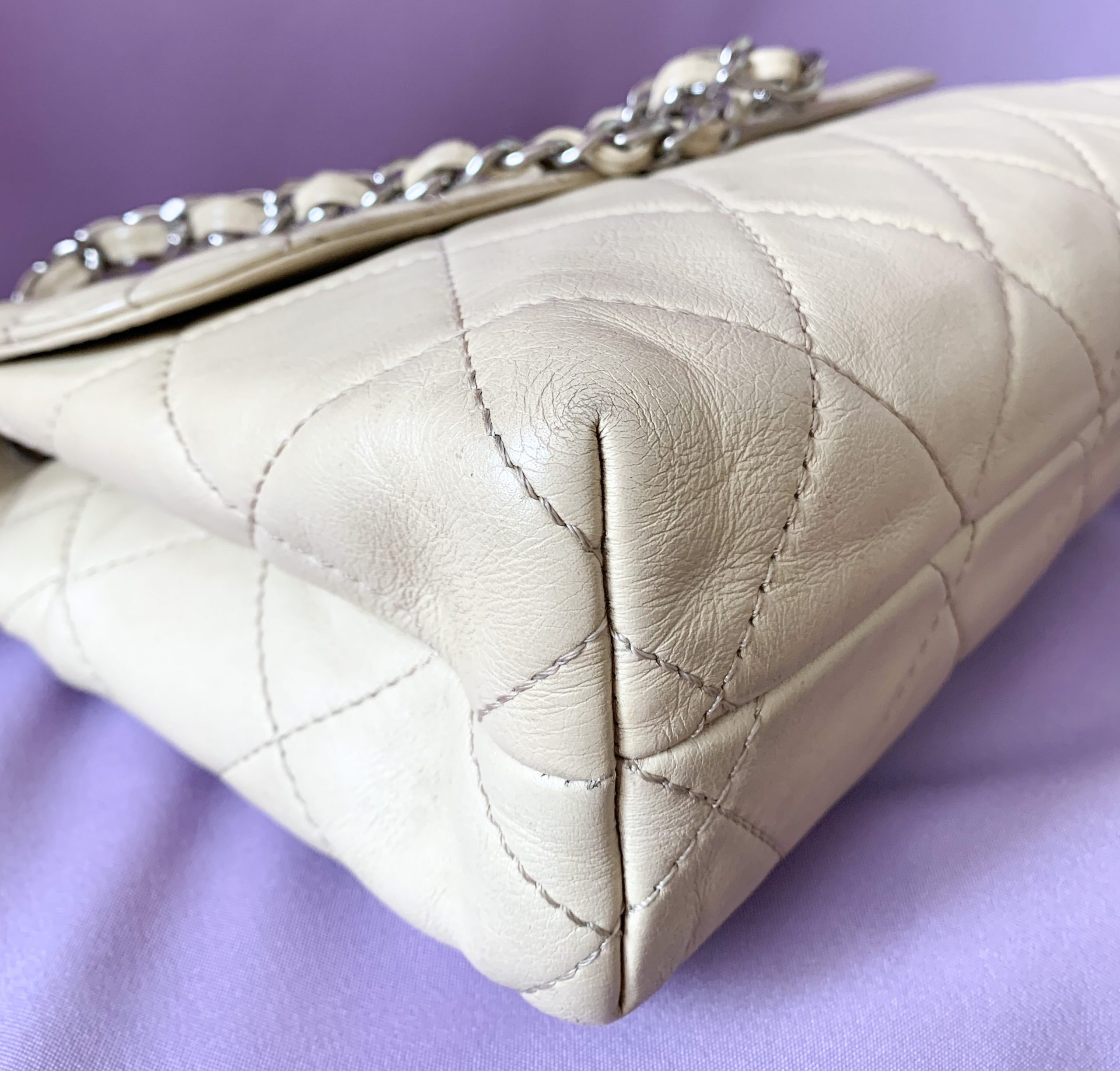 Chanel Nude Quilted Leather Flap Bag - Got Ur Bag